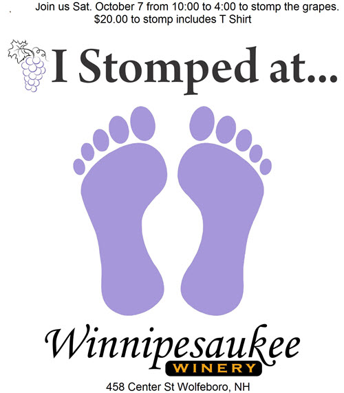 Winnipesaukee Winery stomp